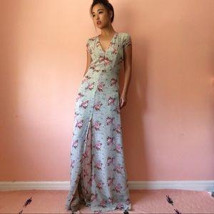 Reformation Dresses - Reformation Mint Floral Maxi Dress